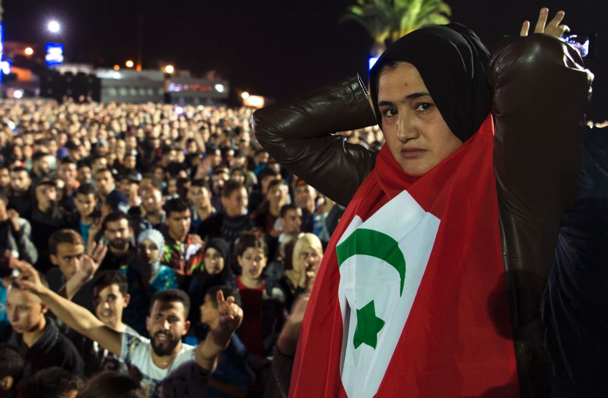 Protesters gather in the northern city of Al Hoceima, Morocco, on October 30th, 2016.