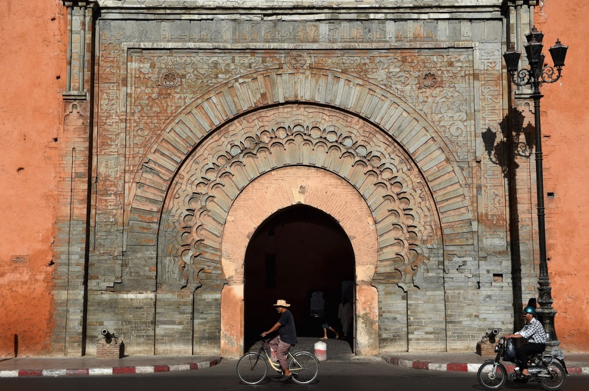 View of the Bab Agnaou in Marrakech, Morocco.