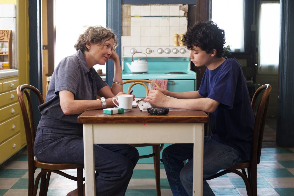 "In 20th Century Women, Annette Bening's Dorothea marshals two other women to held her raise her son to be a ""good man."""