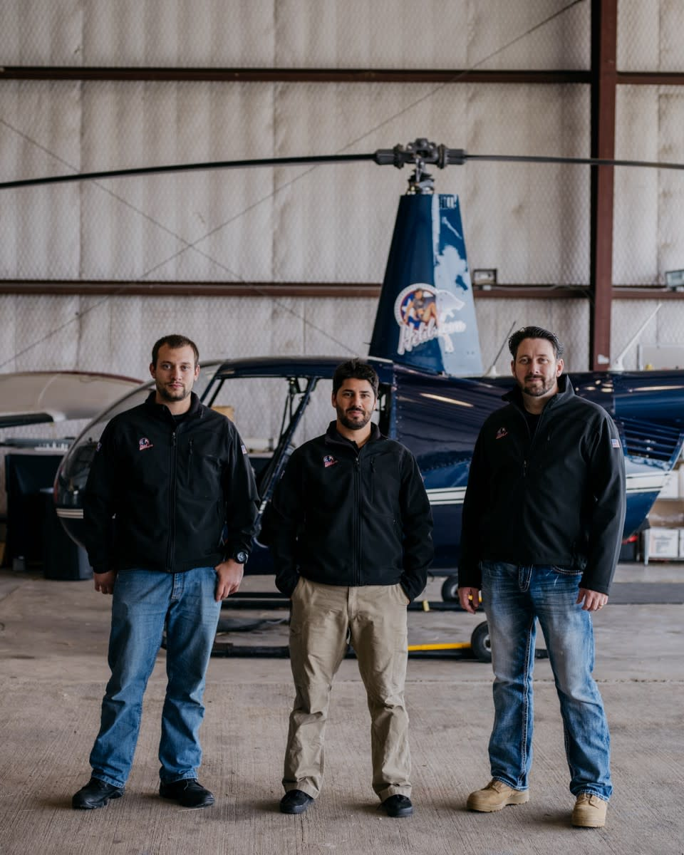 Helibacon owners Chase Roberts, John Dumont, and Chris Britt (left to right).