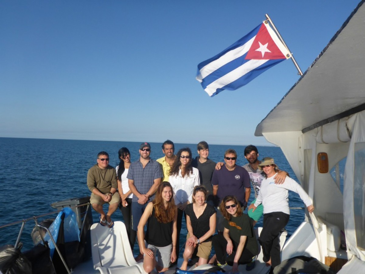 The research team for the February 2015 research cruise.