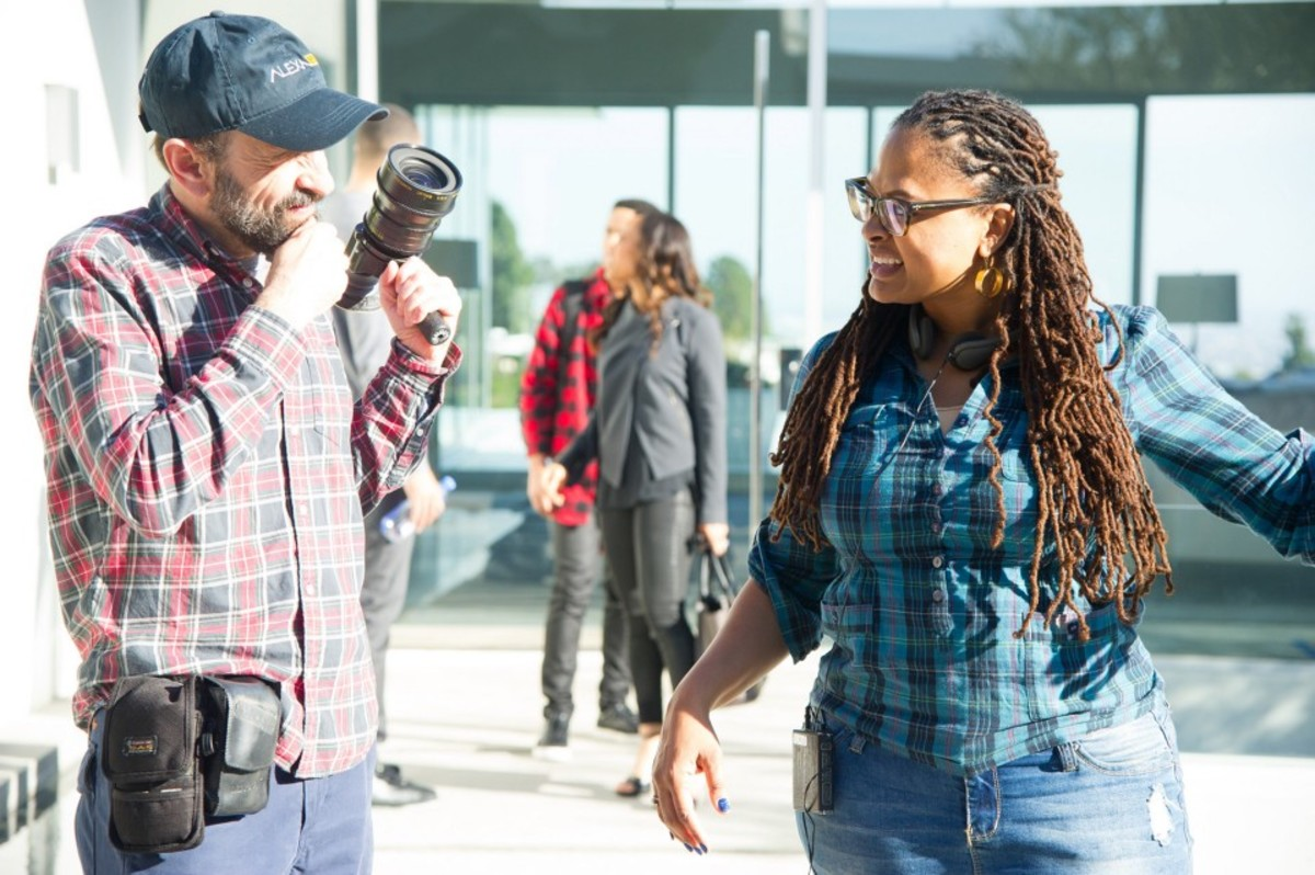 On the set of Queen Sugar