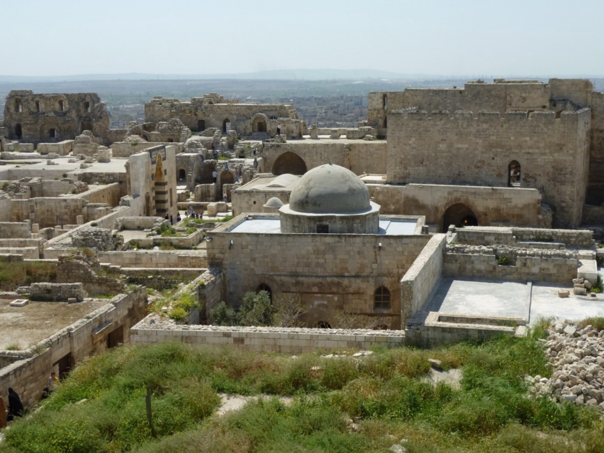 The Mosque of Abraham in the Citadel of Aleppo.