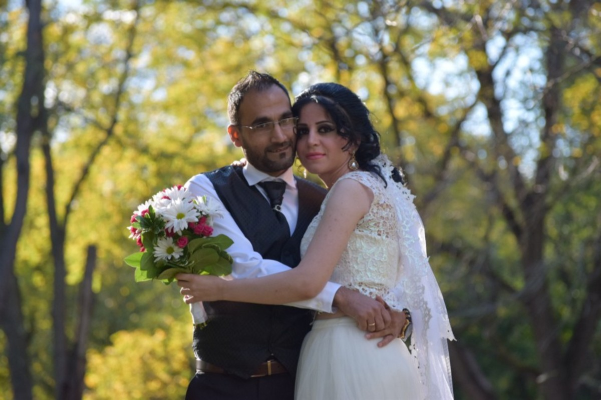 Photo of Zubair Rushk and Etan Shukri in their wedding clothes