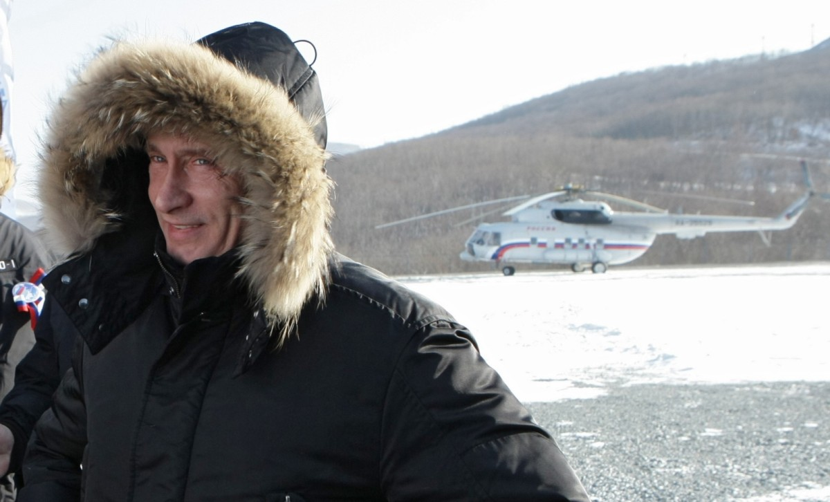 Russian Prime Minister Vladimir Putin at a ceremony commissioning the East Siberia-Pacific Ocean Oil Pipeline in Russia's Far East on December 28th, 2009.