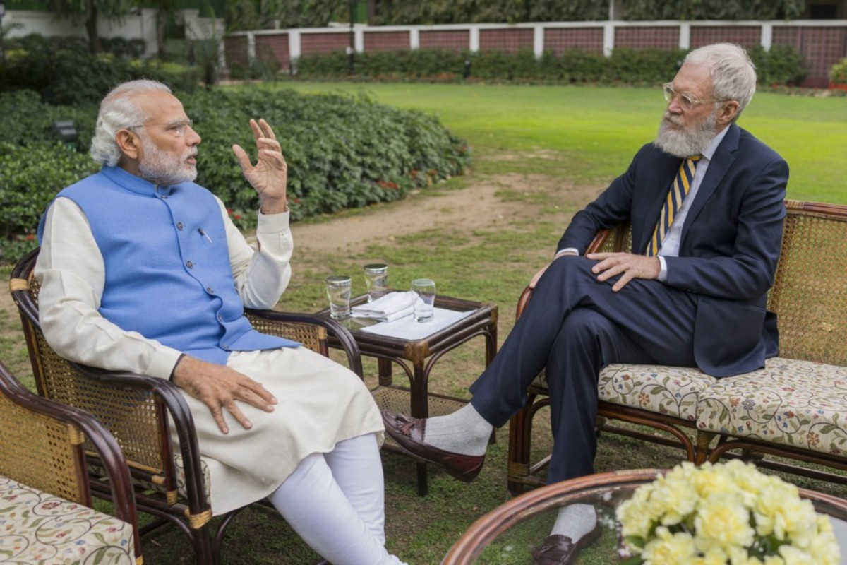 David Letterman interviews Indian Prime Minister Narandra Modi in the second season of Years of Living Dangerously.