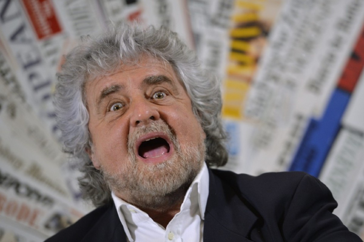 Five Stars Movement leader Beppe Grillo. (Photo: Andreas Solaro/AFP/Getty Images)