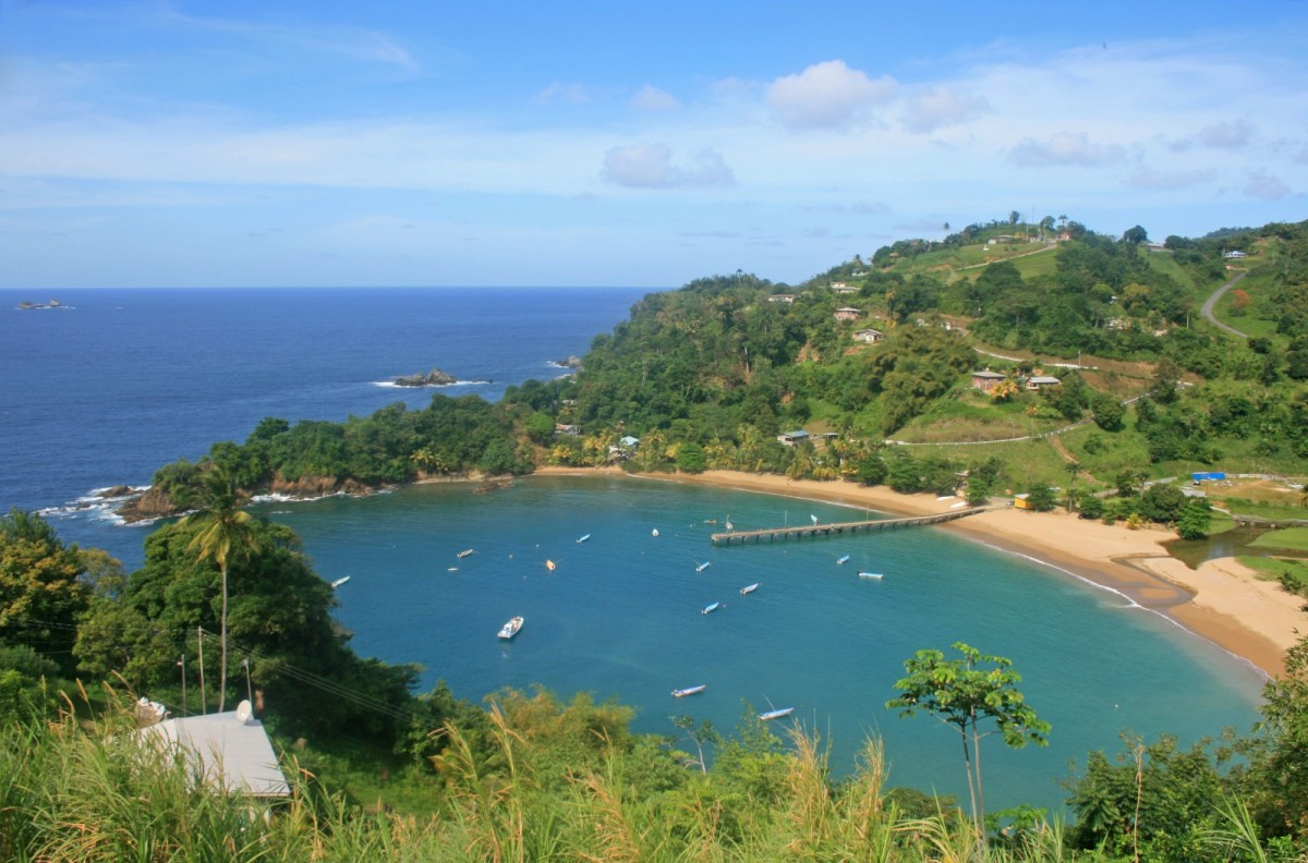 Parlatuvier Bay, a popular tourist destination in Tobago.