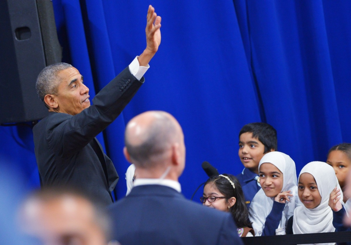 Barack Obama at the Islamic Society of Baltimore on February 3rd, 2016.
