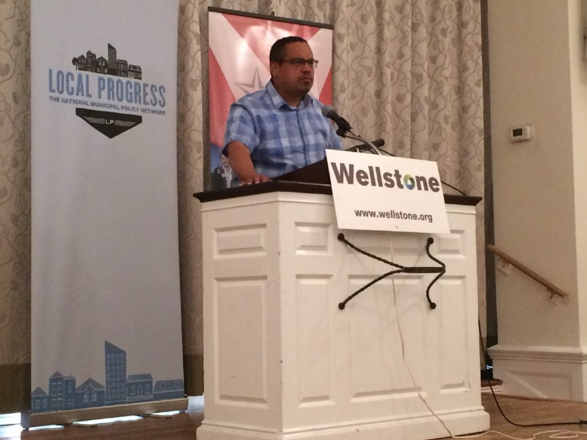 Keith Ellison speaks at Local Progress.