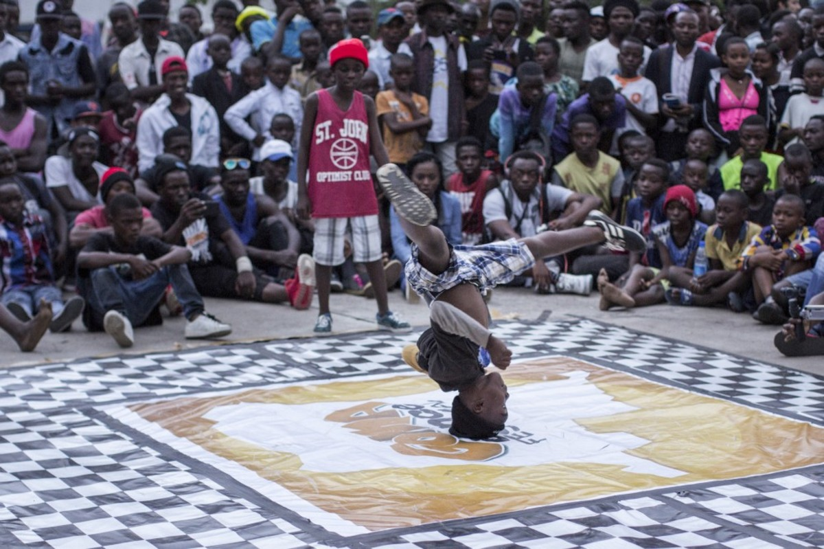 Congolese teenagers compete in a dance battle at the Goma Dance Festival in Goma, east of the Democratic Republic of the Congo, on April 30th, 2017. (Photo: Griff Tapper/AFP/Getty Images)