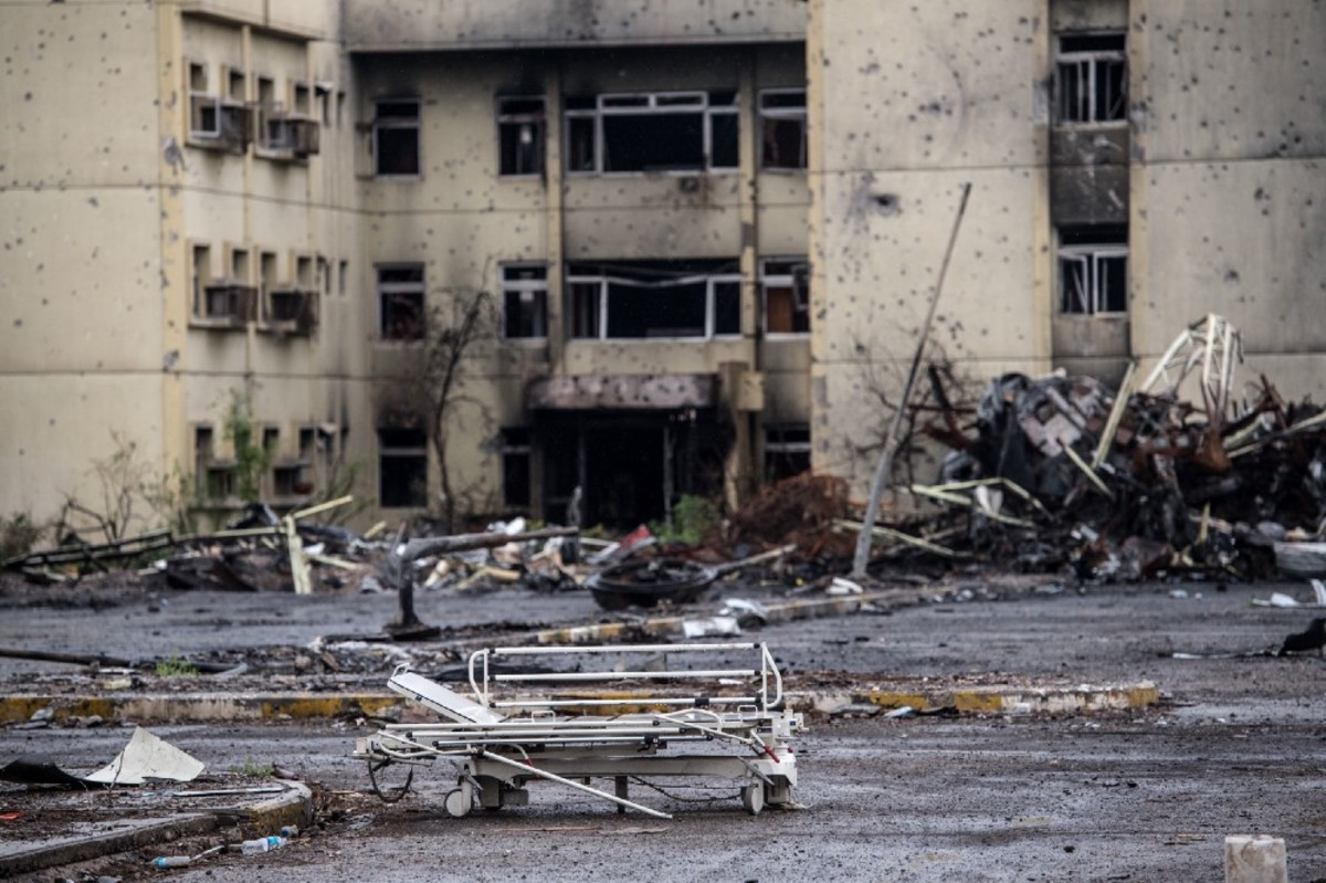 Al-Salam Hospital, which was destroyed during fighting between Iraqi forces and ISIS on April 11th, 2017, in Mosul, Iraq. (Photo: Carl Court/Getty Images)