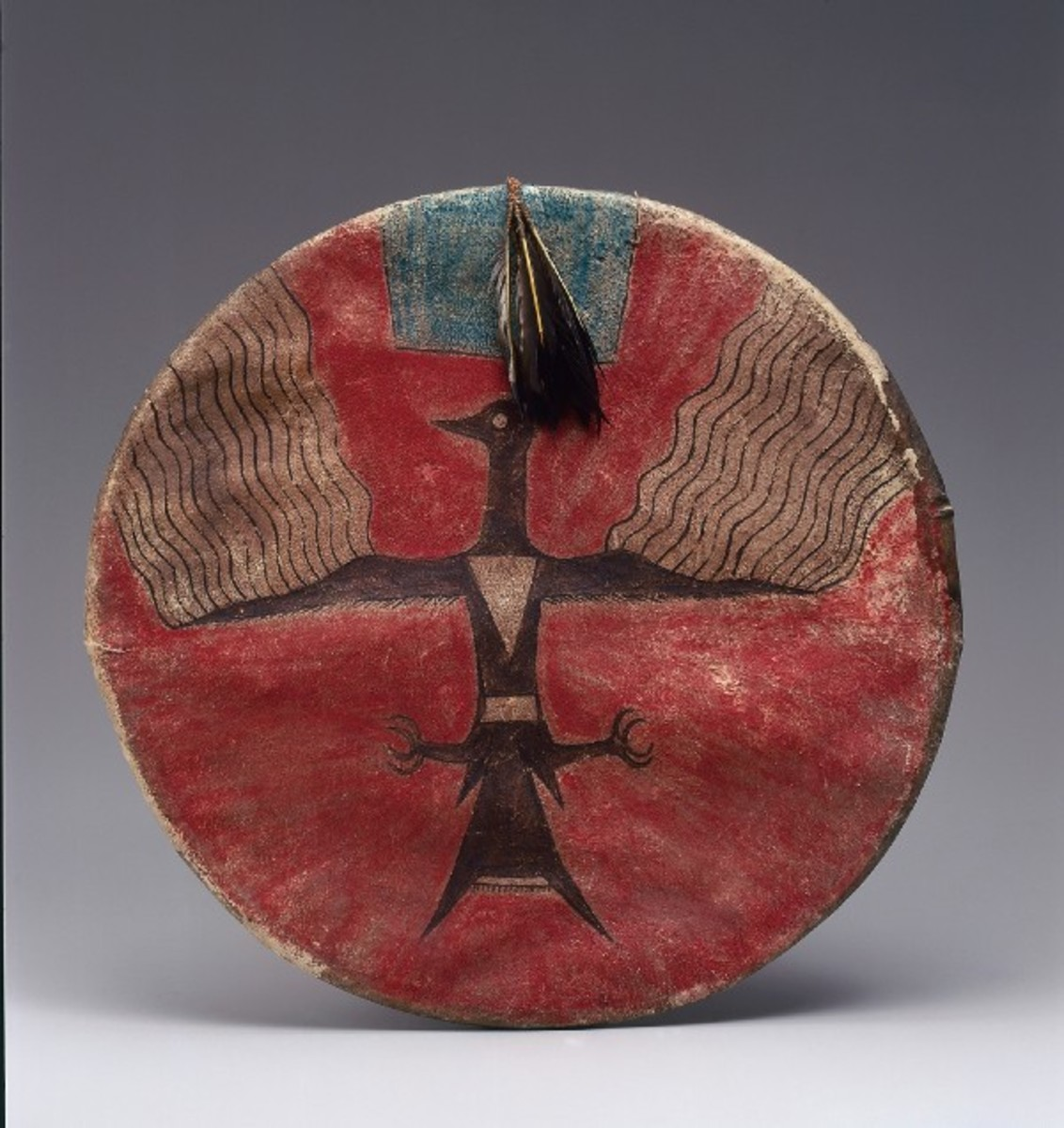 A painted shield from Charles and Valerie Diker's promised gift to the Met. (Photo: Courtesy of the Metropolitan Museum of Art)