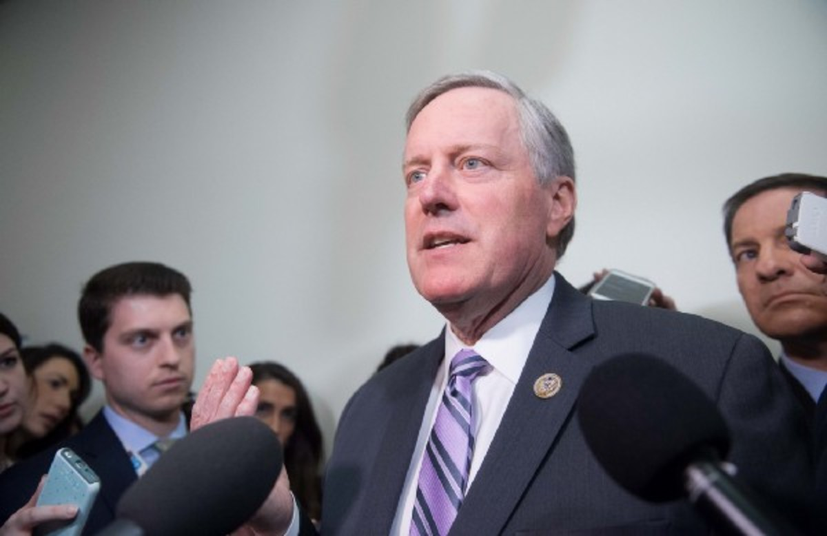 Mark Meadows. (Photo: Nicholas Kamm/AFP/Getty Images)