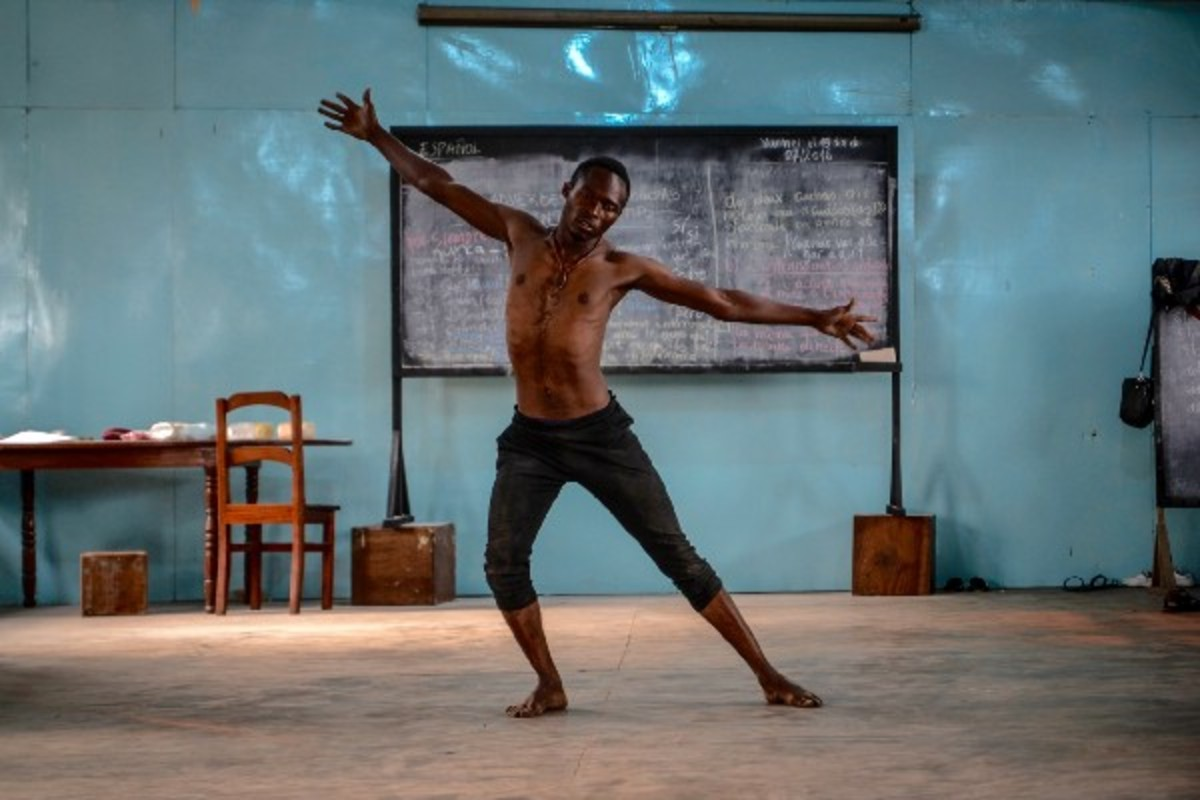 Dancer Christian Boley performs his personal routine. Each student pays $5 per year to attend every class available. Offerings include traditional dance, hip-hop, and contemporary dance.