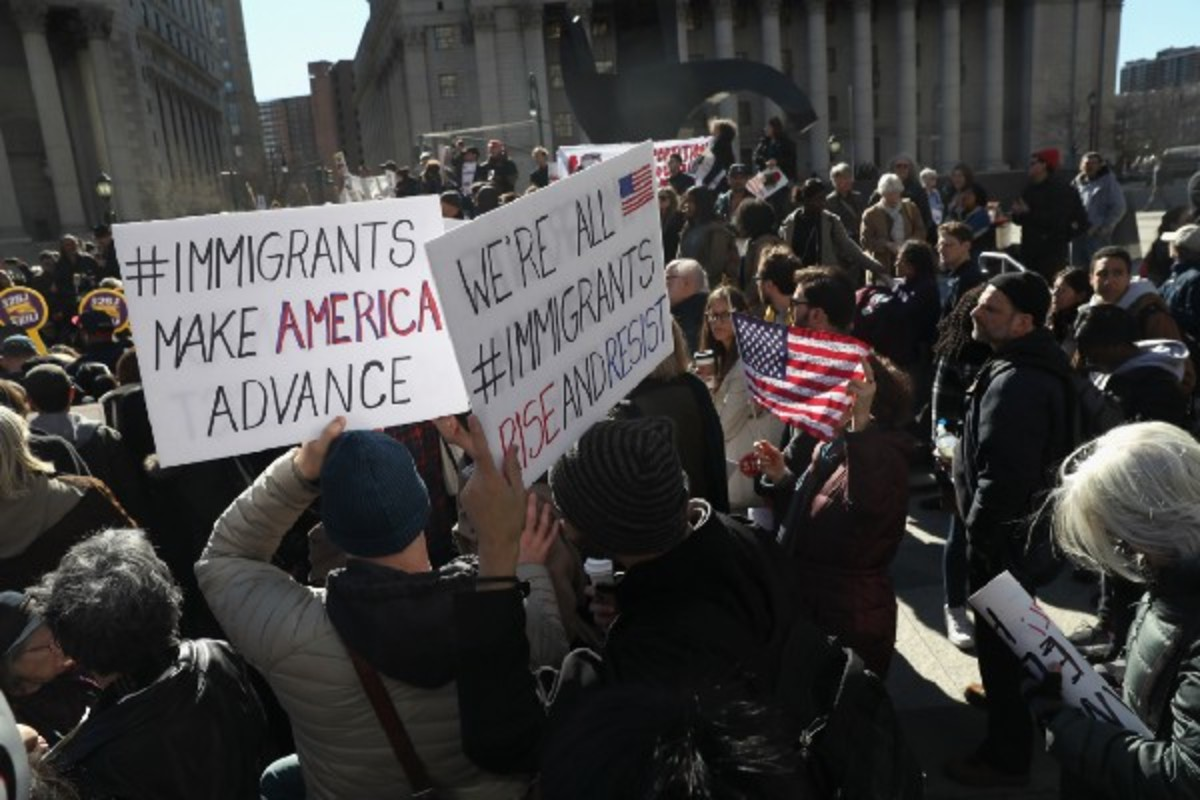 Protesters take part in a Solidarity Rally Against Deportation on March 9th, 2017, in New York City. (Photo: John Moore/Getty Images)