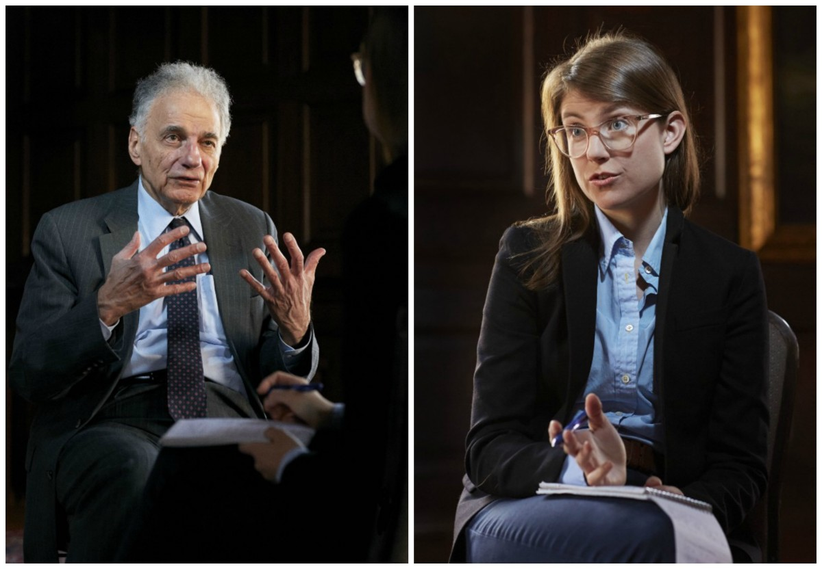 Left: Ralph Nader. | Right: Lydia DePillis.