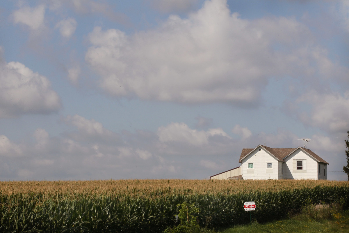 a farm in Iowa