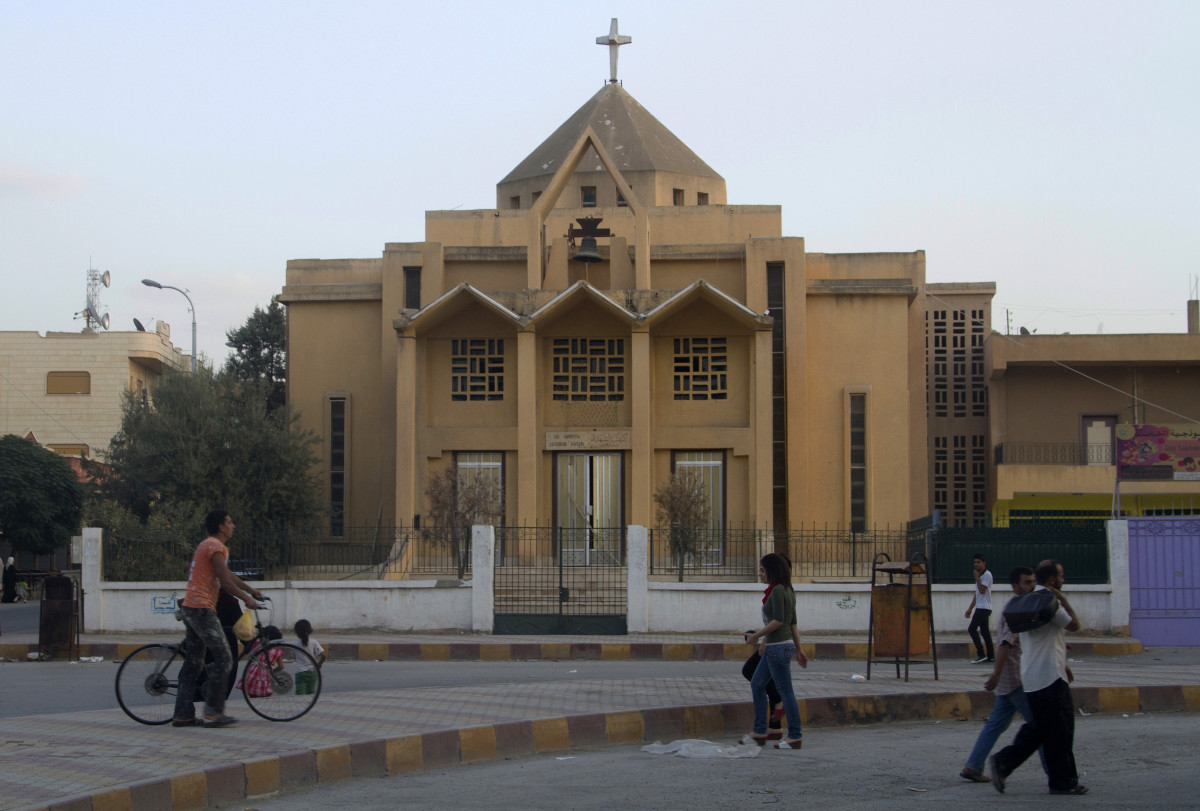 The Armenian Catholic Church of the Martyrs in Raqqa, Syria.