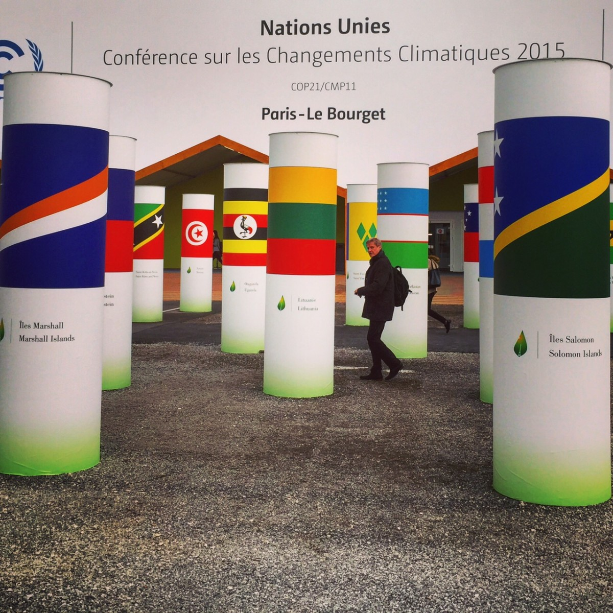 A view of COP21 in Le Bourget, France, in 2015.