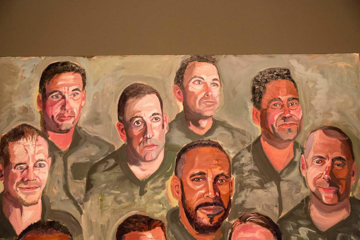 Paintings of wounded U.S. military veterans painted by former President George W. Bush.