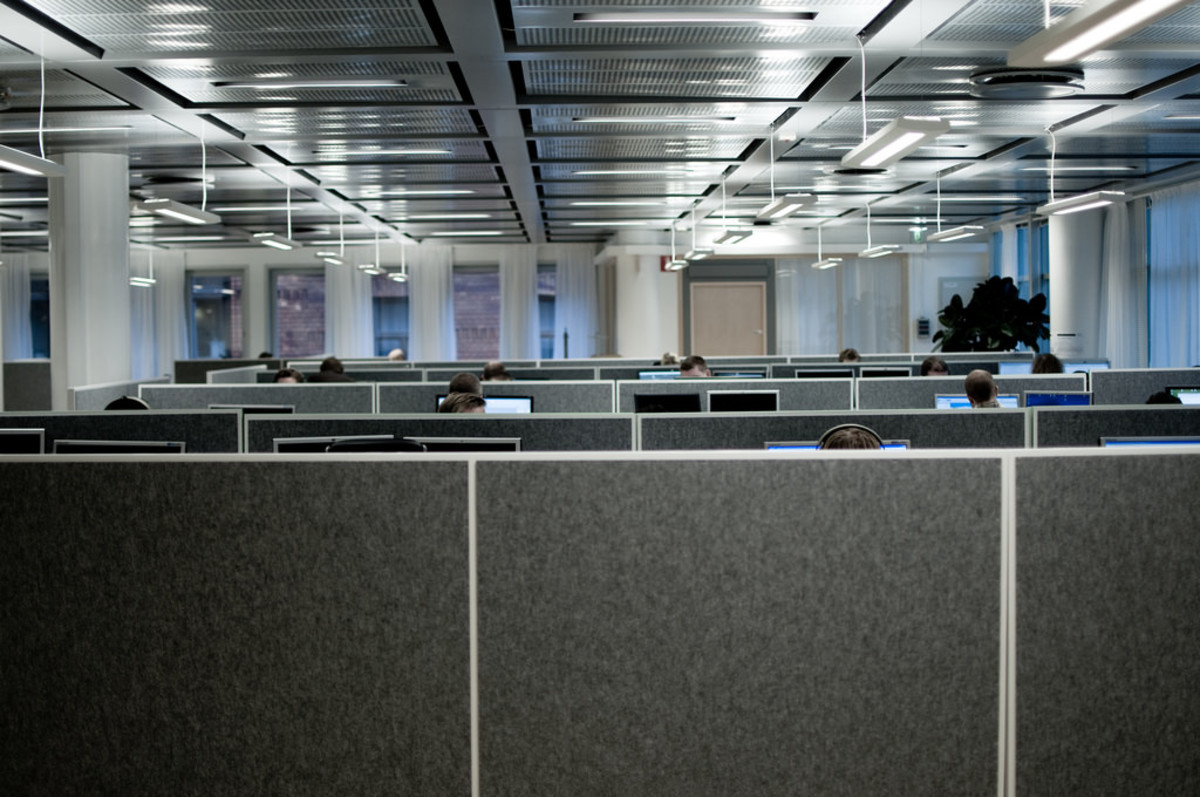 Cubicles as far as the eye can see.