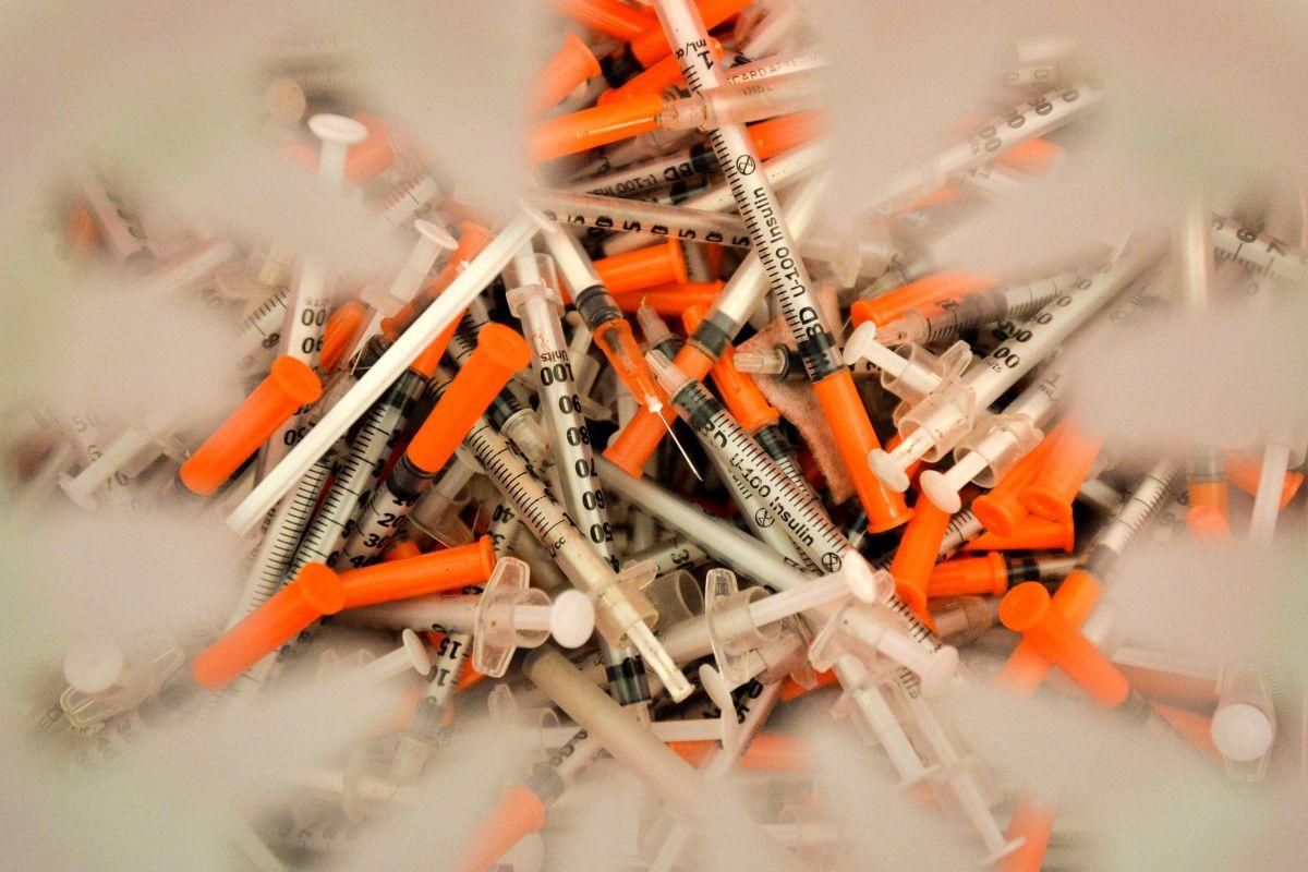 Heroin needles