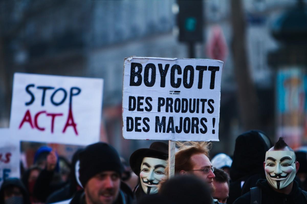 Consumer boycott corporations