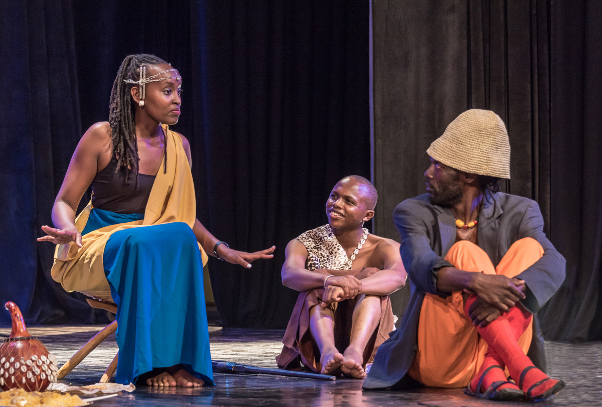 A scene from a performance organized by Jalada—a pan-African writers' collective—in Nairobi, Kenya.