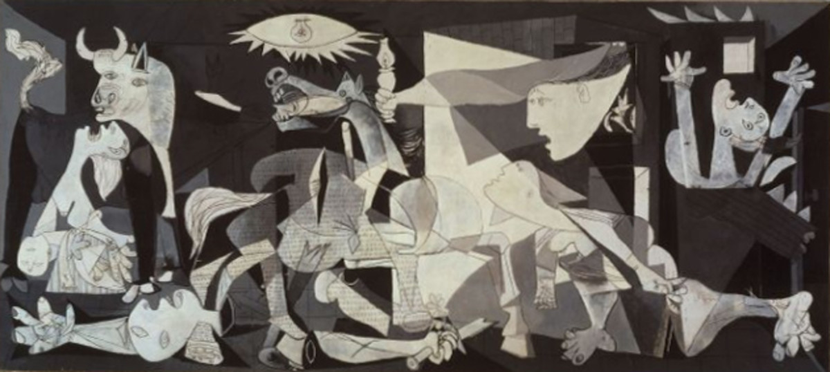 Guernica, by Pablo Picasso.