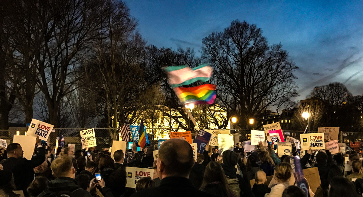 The ProtectTransKids Protest in Washington, D.C., on February 22nd, 2017.