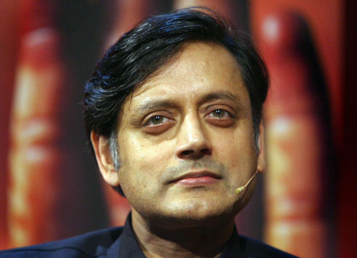 Indian politician and former diplomat Shashi Tharoor.