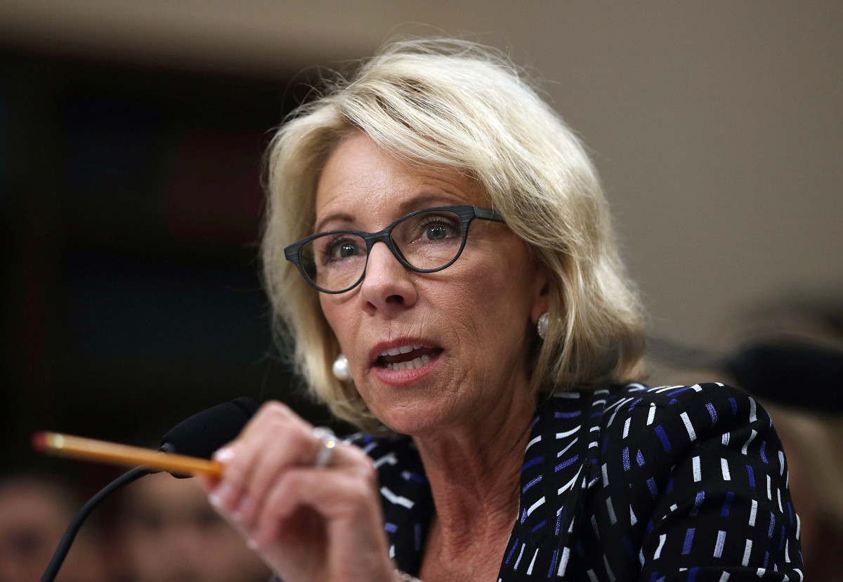 U.S. Secretary of Education Betsy DeVos in Washington, D.C., on May 24th, 2017.
