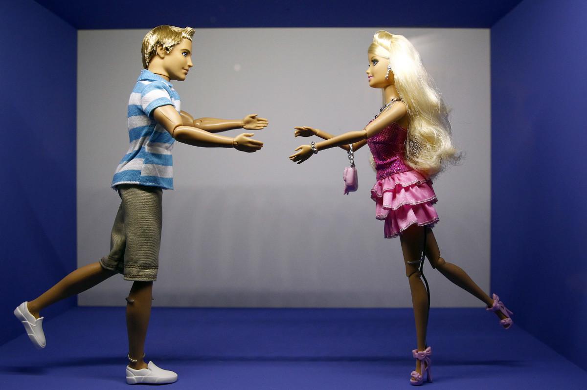 Barbie and Ken dolls.