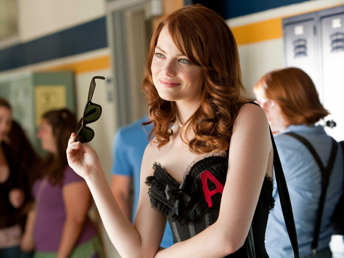 "Emma Stone in Easy A, a film that now has a ""clean"" version."