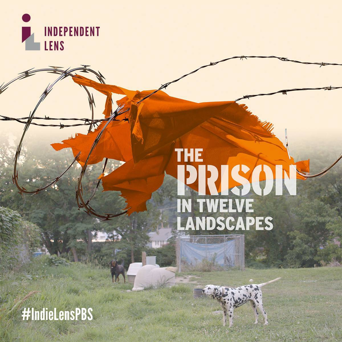 A poster for the new PBS documentary, The Prison In Twelve Landscapes.