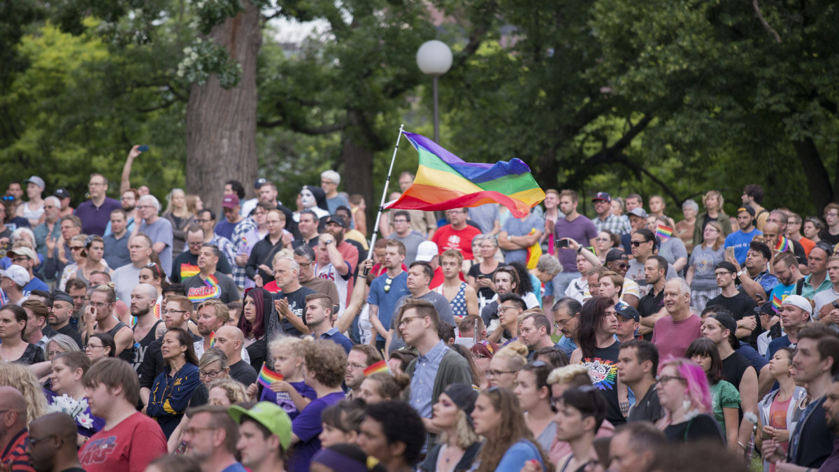 A Minneapolis vigil following the Pulse massacre.