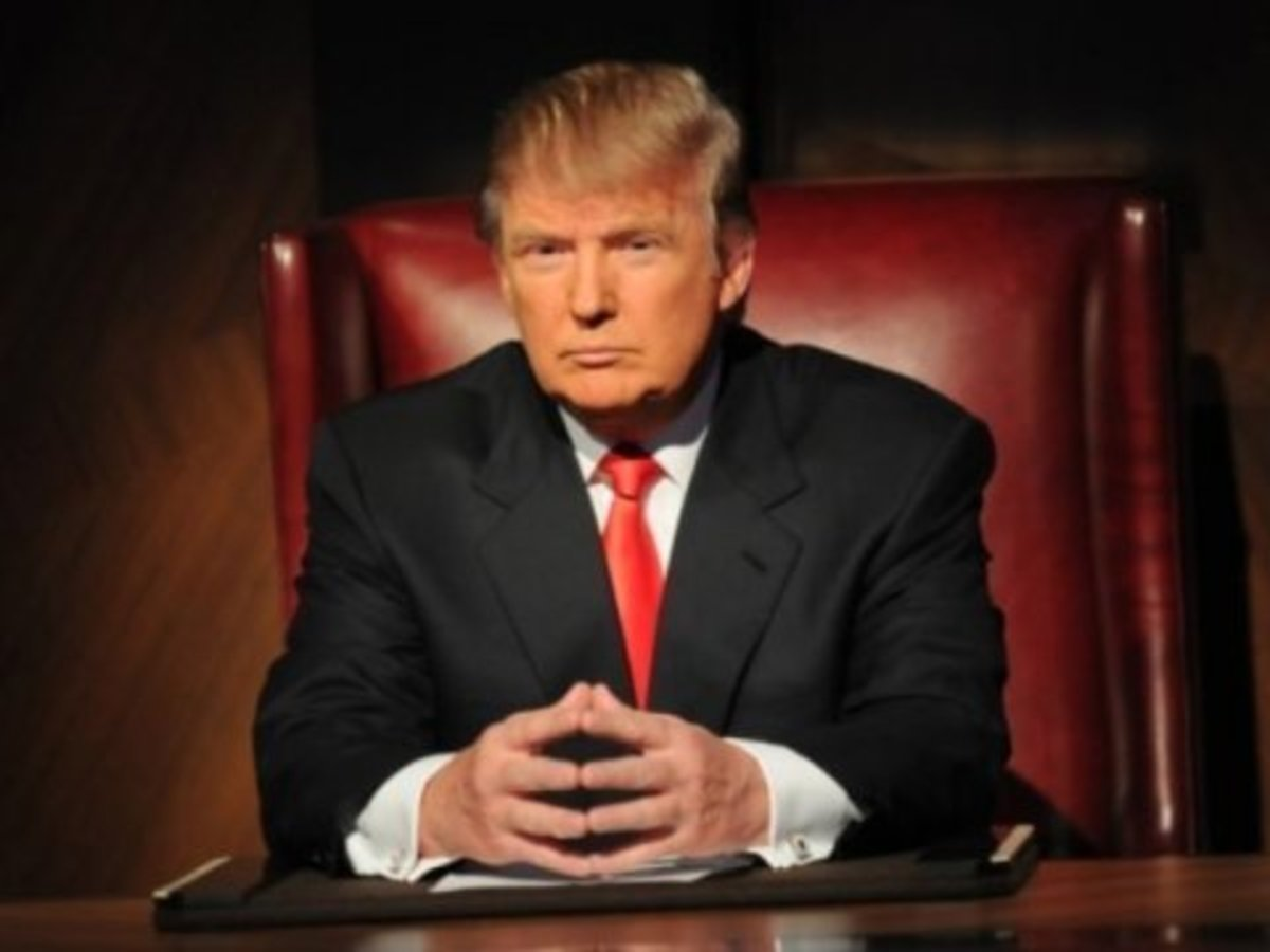 Donald Trump on the set of The Apprentice.