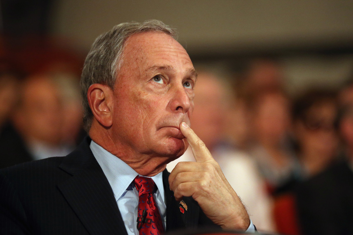Michael Bloomberg looks on before delivering a speech to delegates on the last day of the Conservative party conference, in the International Convention Centre on October 10th, 2012, in Birmingham, England.