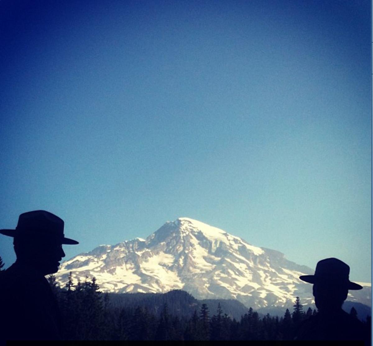 Rangers in Mount Rainier National Park.