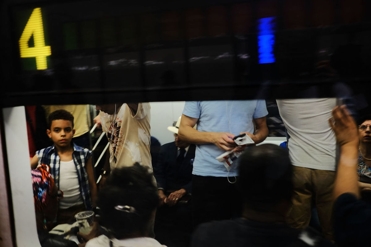 Passengers ride a Metropolitan Transportation Authority subway on June 29th, 2017, in New York City. Following a series of breakdowns and delays, New York Governor Andrew Cuomo declared on Thursday a state of emergency for the subway system.