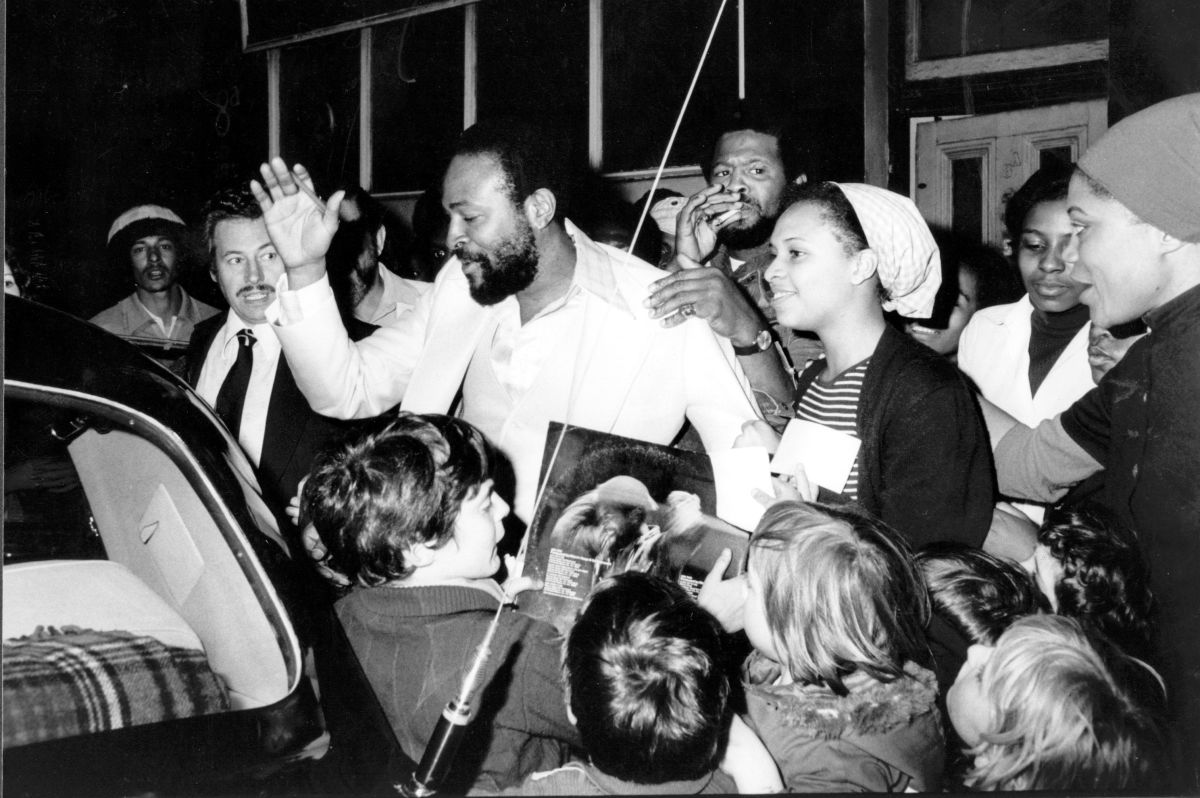 Marvin Gaye in London, 1976.