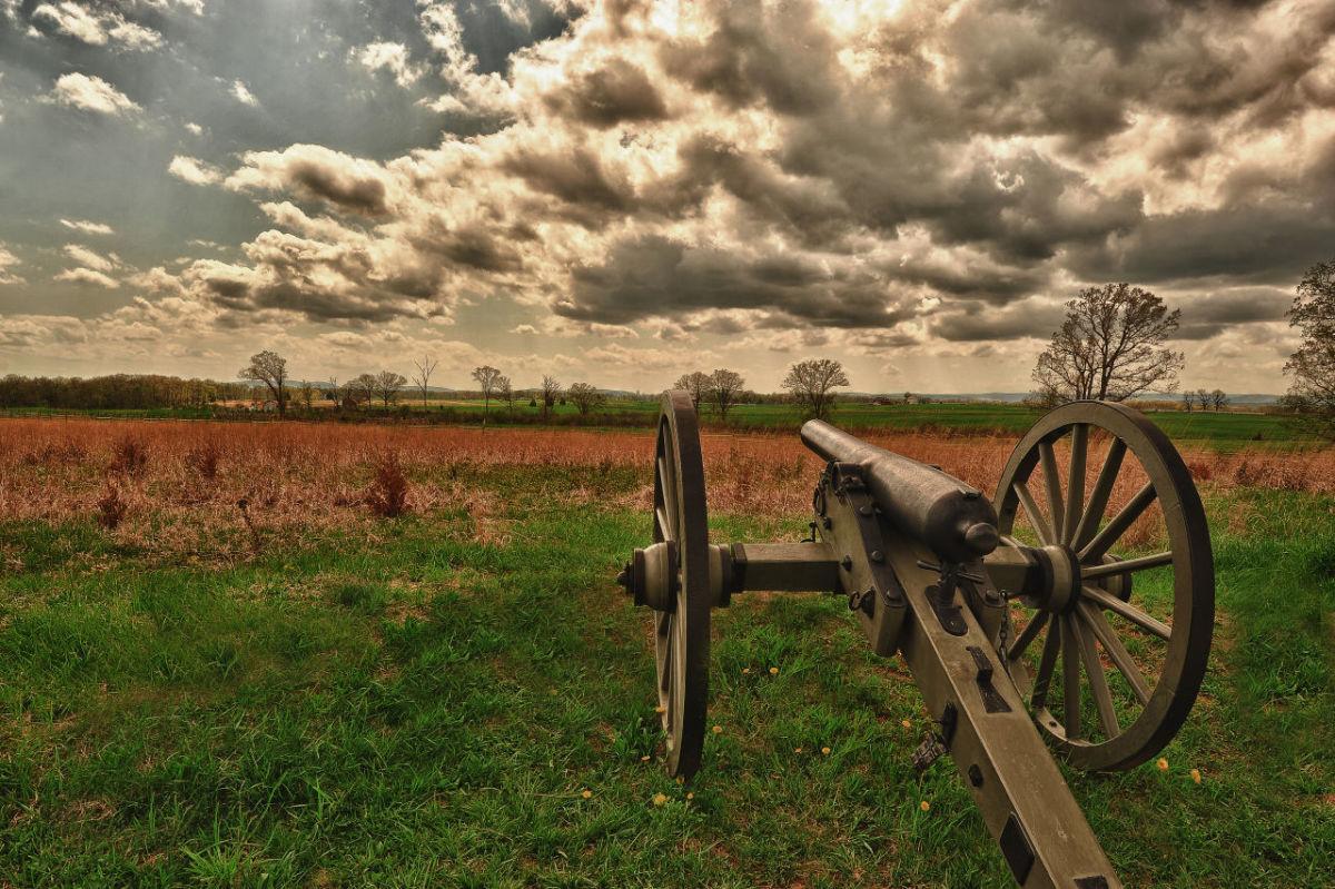 Cannon at Gettysburg, Pennsylvania.