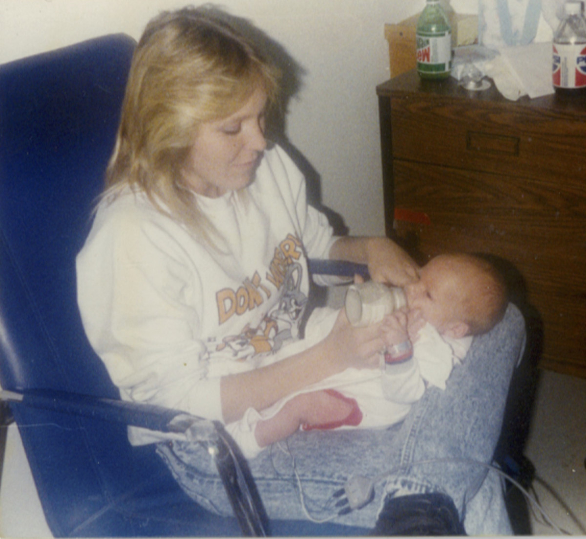 Debbie at 34 years old, shortly after the birth of her first grandson in 1999.