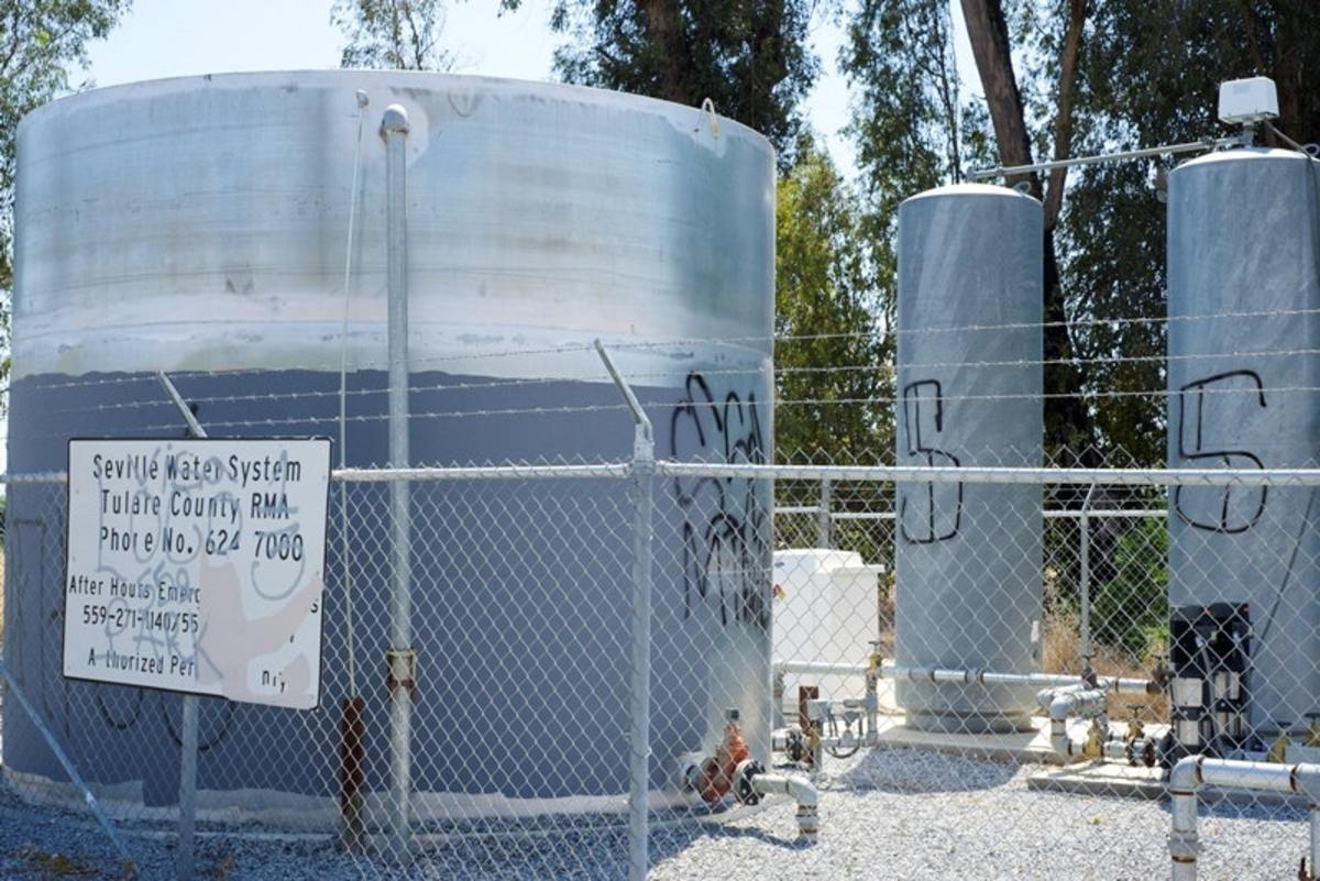 In the small, unincorporated community of Seville in the San Joaquin Valley, a new well was installed during the drought, but old infrastructure still hampers the distribution of clean water.