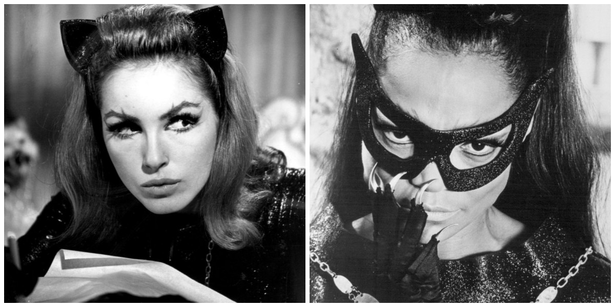 Julie Newmar and Eartha Kitt as Catwoman in ABC's Batman.