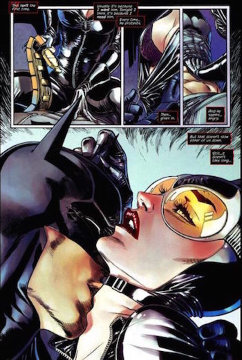 A scene from Catwoman's first, sexed-up issue in The New 52.