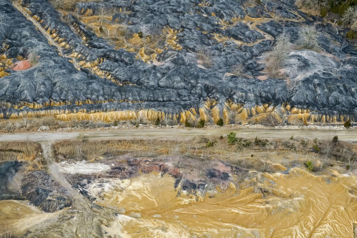 An abandoned coal mine.