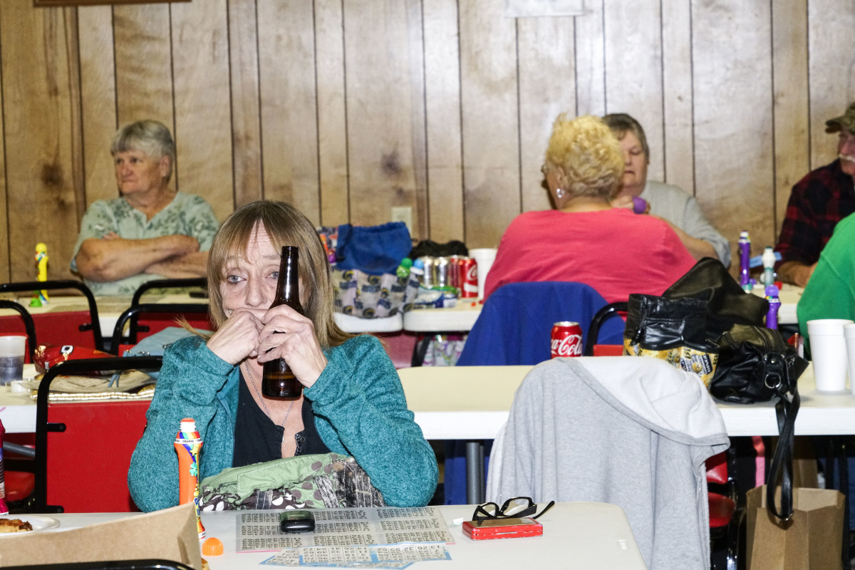 Bingo night at the Fraternal Order of Eagles in Zeigler, Illinois.