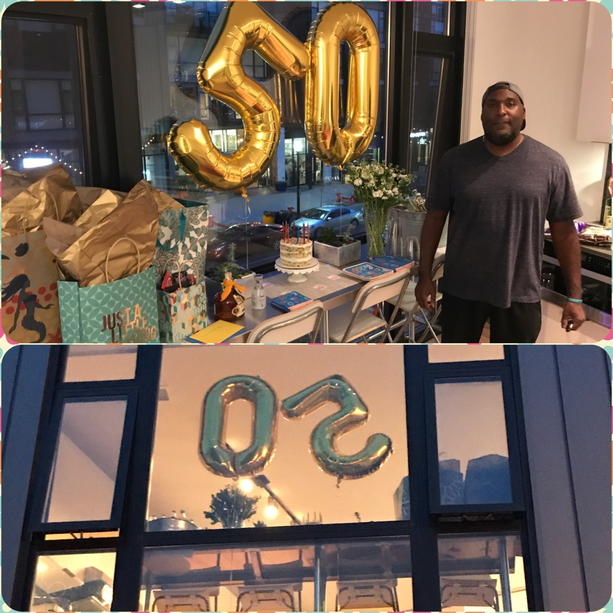 Gregory celebrates his 50th birthday.